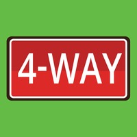 4-way road sign