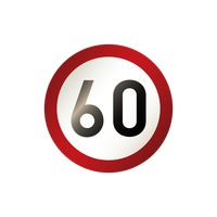 60 road sign