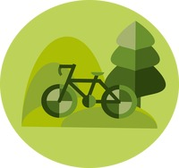 A bicycle and natural environment
