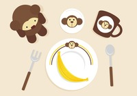 A breakfast table with bear icons