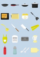 A collection of kitchen items