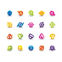 Abstract logo element set