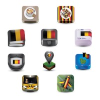 Assorted belgium icons