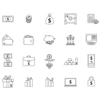 Banking and money icons