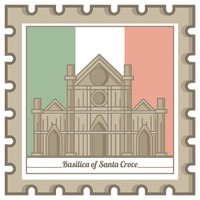 Basilica of santa croce postal stamp