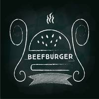 Beef burger menu card design