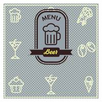 Beer menu card design
