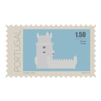 Belem tower postage stamp