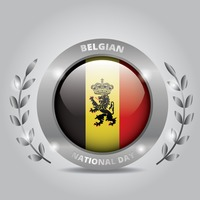 Belgian national day badge