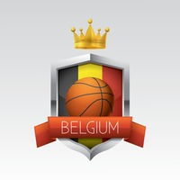 Belgium flag with basketball