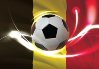 Belgium flag with soccer ball