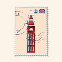 Big ben postage stamp