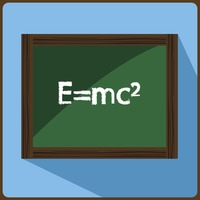 Blackboard with mathematics equation
