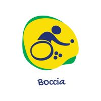 Boccia for athletes with disabilities