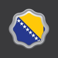 Bosnia and herzegovina flag badge