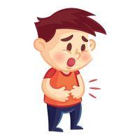 Man having stomach ach...