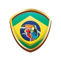 Brazil badge with birds