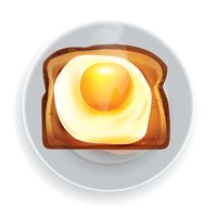 Bread with fried egg