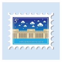 Buckingham palace postage stamp