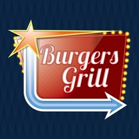 Burgers grill signboard