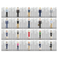 Businessman and businesswoman collection