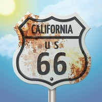 California 66 route sign