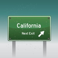 California next exit sign