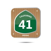 California route forty one road sign