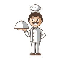 Chef holding cloche