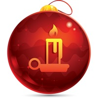 Popular : Christmas candle button