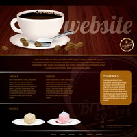 Coffee store website template