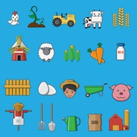 Collection of agricultural equipments
