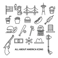 Collection of american related objects