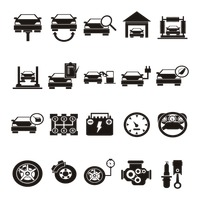 Collection of automobile icons