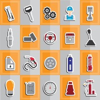 Collection of automobile parts