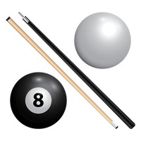 Collection of billiard equipment