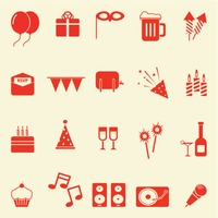 Collection of birthday icons