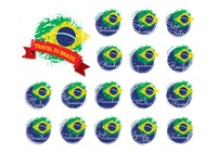 Collection of brazil flag icons