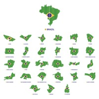 Collection of brazil state map