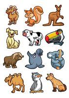 Collection of cartoon animals