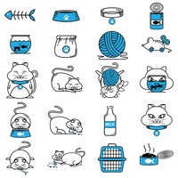 Collection of cat related objects
