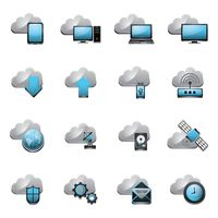 Collection of cloud technology icons
