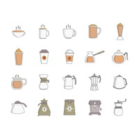 Collection of coffee objects