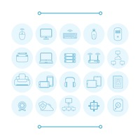 Collection of computer icons