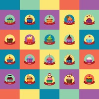 Collection of cupcakes