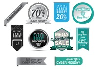 Collection of cyber monday sale design