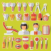 Collection of dental related items