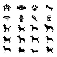 Collection of dogs icons