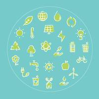 Collection of eco icons