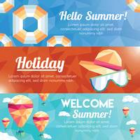 Collection of faceted summer banner